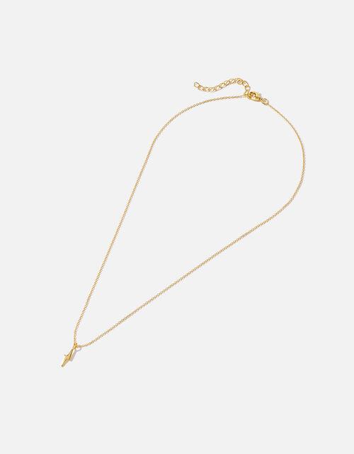 Gold Vermeil Lightning Bolt Necklace, , large