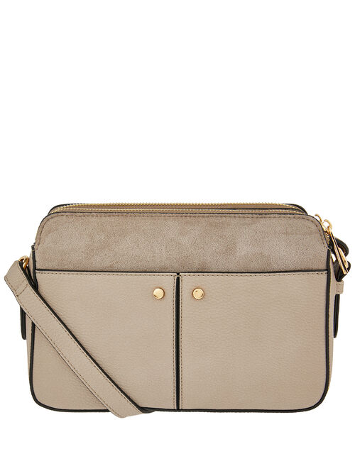 Charlotte Cross-Body Bag, Grey (GREY), large