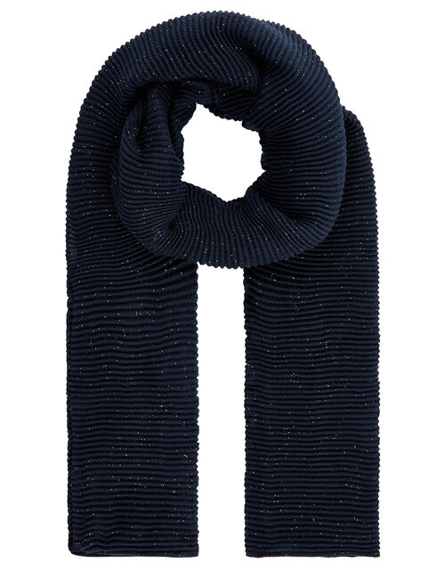 Glitter Pleated Scarf, , large