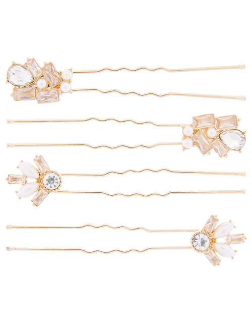 Baguette Gem Hair Pin Set, , large