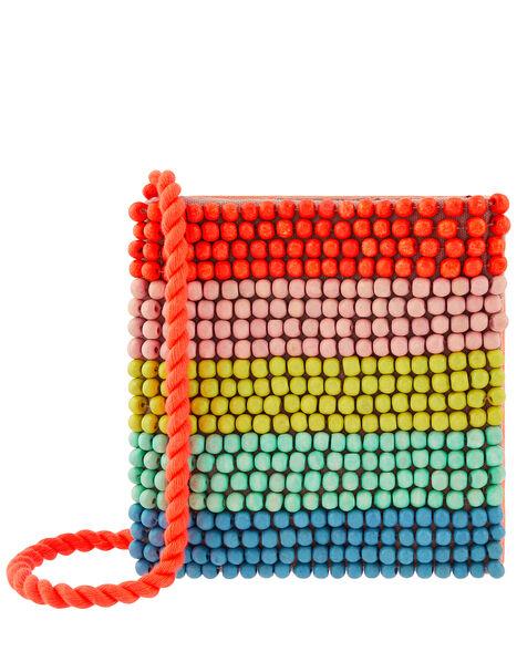 Rainbow Bead Cross-Body Bag, , large