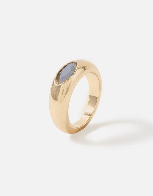 Berry Blush Signet Stone Ring, Grey (GREY), large