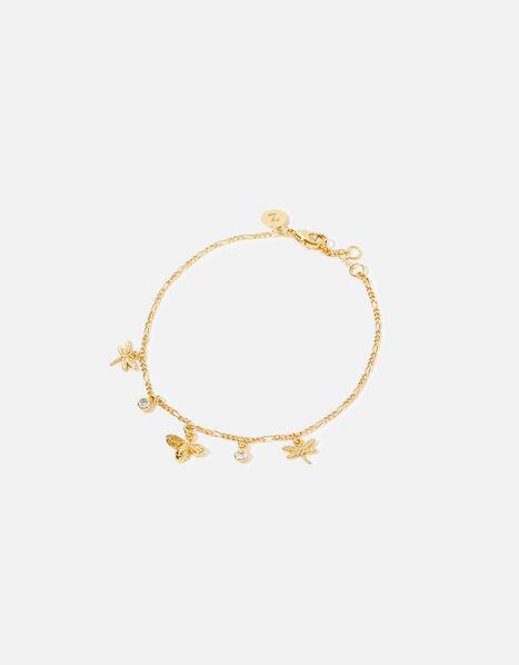 Gold-Plated Nature Charm Bracelet, , large