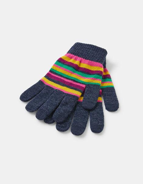 Stripe Super-Stretch Touchscreen Gloves, , large