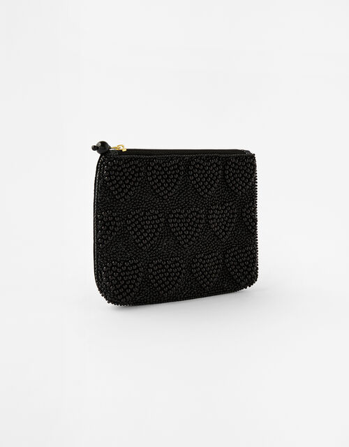 Harrie Heart Beaded Pouch Bag, , large