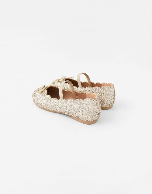 Scalloped Ballerina Flats, Gold (GOLD), large