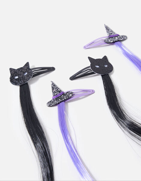 Halloween Faux Hair Clips, , large