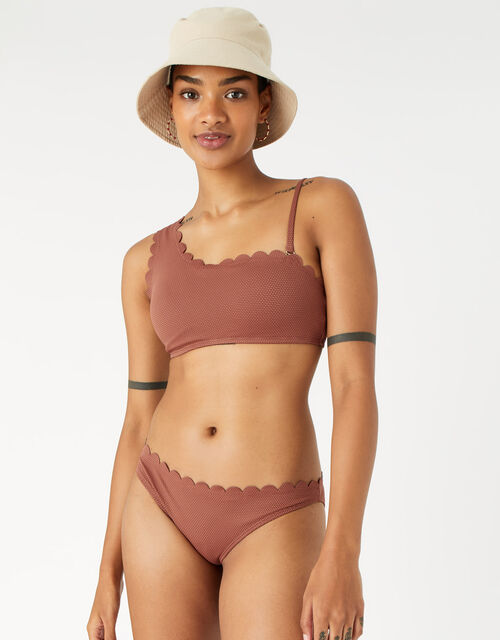 Scallop Bikini Briefs, Orange (RUST), large