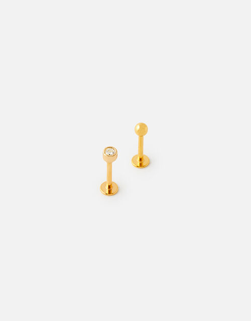 Crystal and Ball Flatback Stud Set , , large