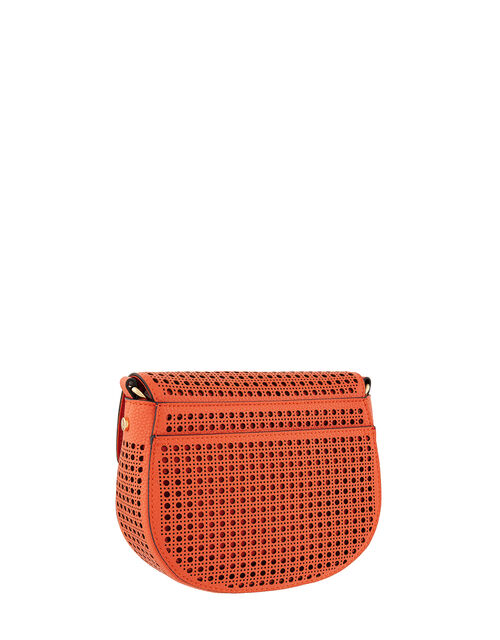 Punch-Out Cross-Body Bag, Orange (ORANGE), large
