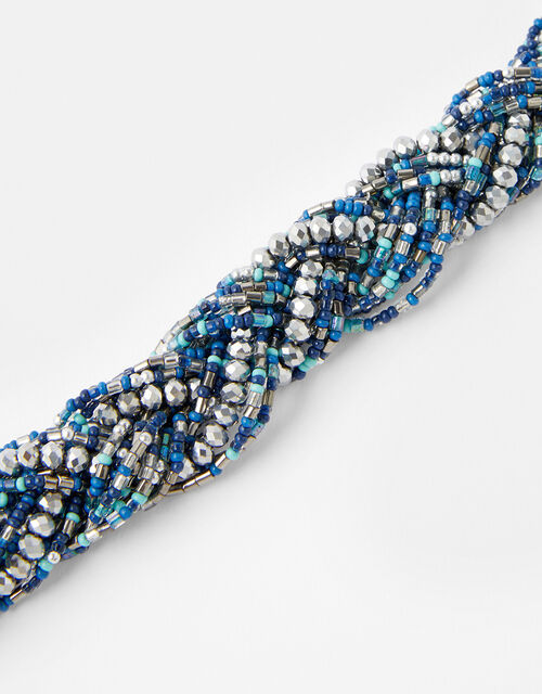 Niki Plaited Bead Collar Necklace, , large