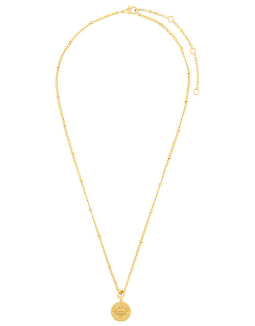 Gold-Plated Hamsa Hand Pendant Necklace, , large