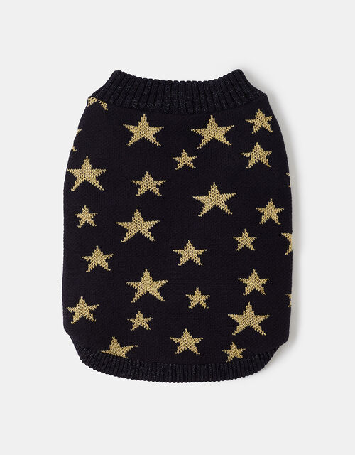 Starry Night Dog Jumper, Blue (NAVY), large
