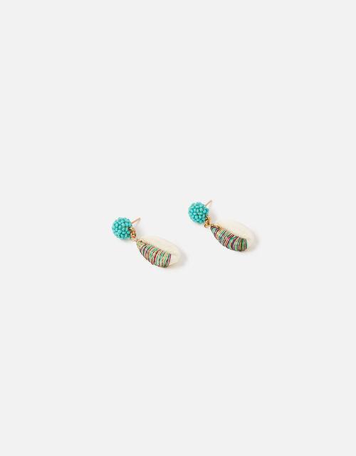 Island Vibes Shell Drop Earrings, , large