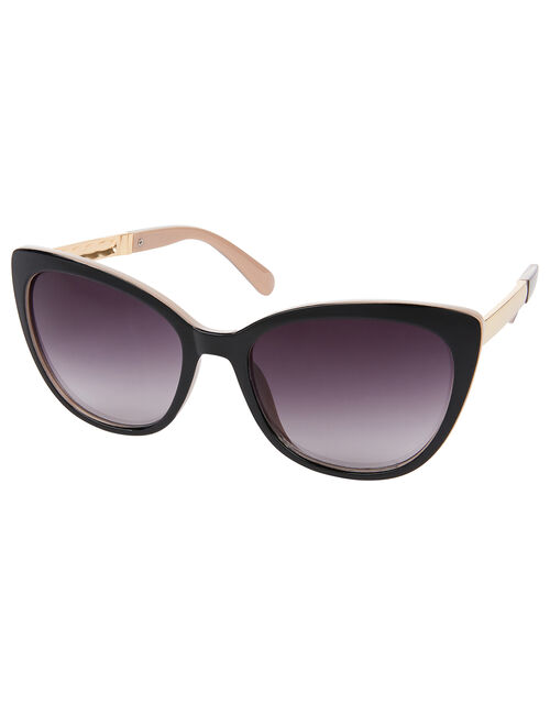 Carrie Two-Tone Cat-Eye Sunglasses, , large