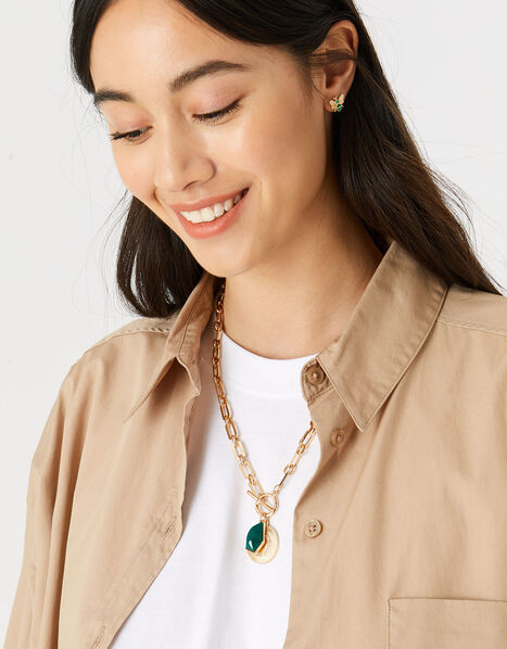 Reconnected T-Bar Chain Necklace, , large