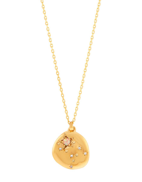 Gold-Plated Opal Zodiac Necklace - Gemini, , large