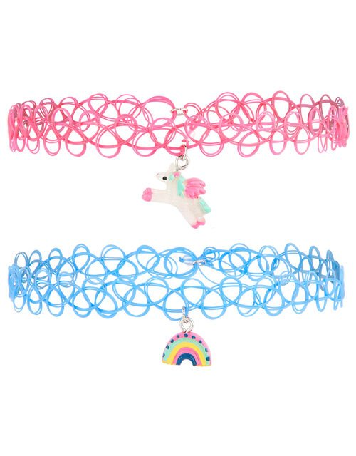 Unicorn Rainbow Choker Set, , large