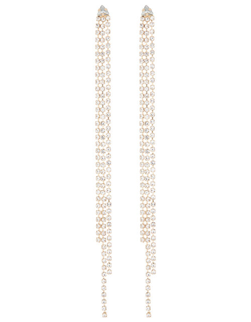 Extra Long Cup Chain Drop Earrings, , large