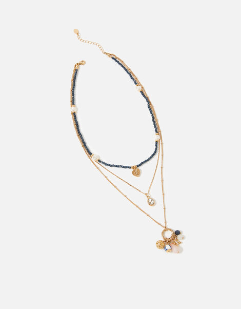 Country Retreat Bead Multirow Necklace, , large