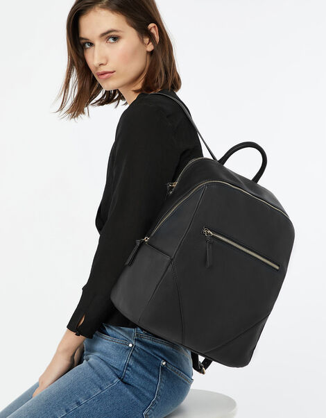 Judy Vegan Backpack Black, Black (BLACK), large