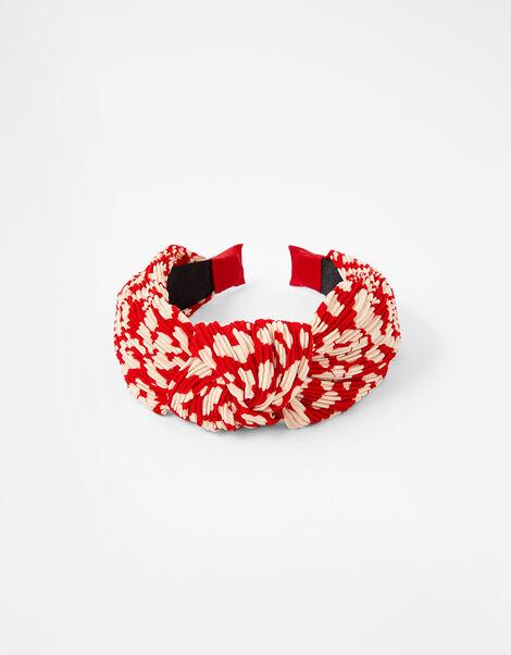 Pleated Animal Knot Headband , , large