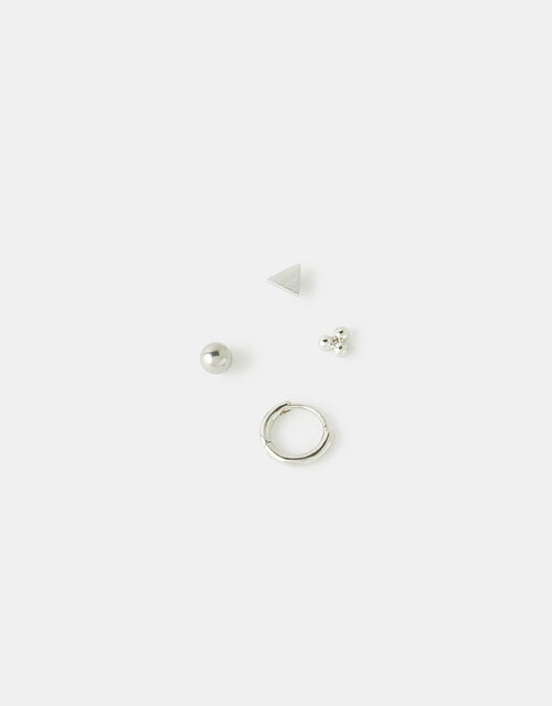 Hoop and Stud Flat-Back Piercing Set, , large