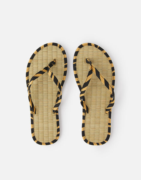 Animal Print Seagrass Flip Flops  Multi, Multi (DARKS-MULTI), large