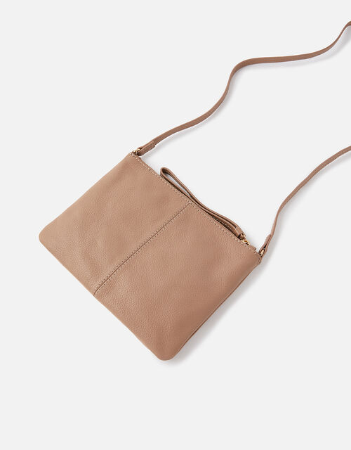 Sophie Leather Cross Body, Nude (NUDE), large