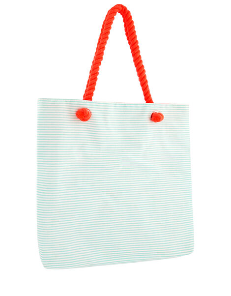 Flora Flamingo Striped Shopper Bag, , large