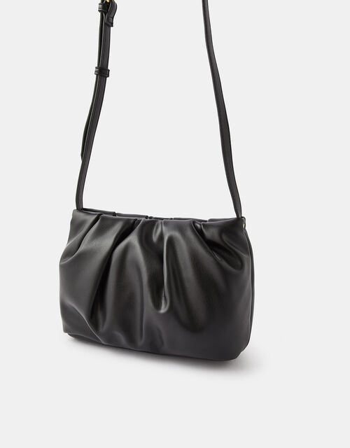 Ruched Cross-Body Bag, , large
