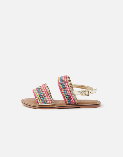 Tropical Beaded Sandals , Multi (BRIGHTS-MULTI), large