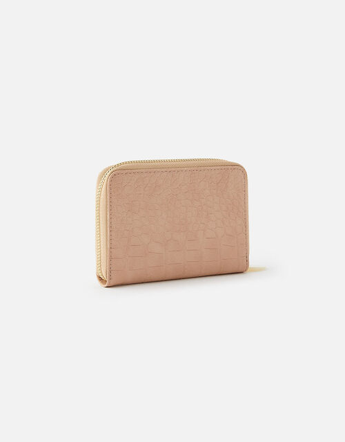 Croc Medium Zip Wallet, Nude (NUDE), large