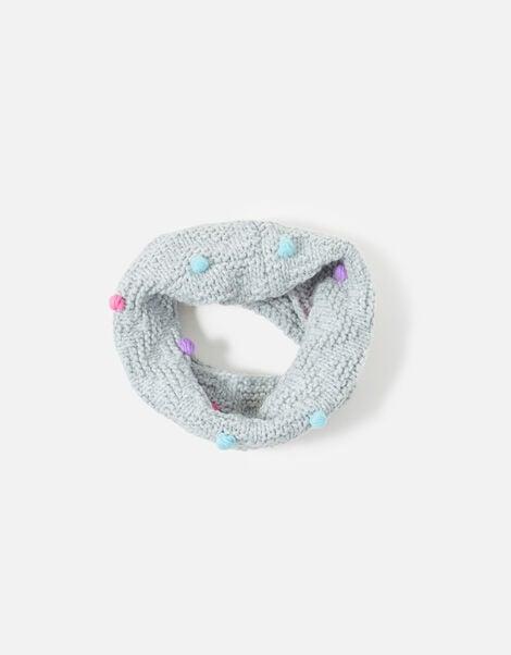 Pom-Pom Knit Snood , , large