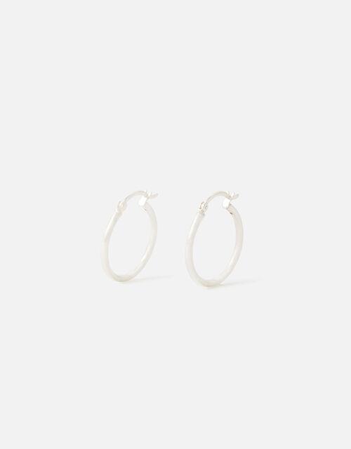 Sterling Silver Chunky Hoop Earrings, , large
