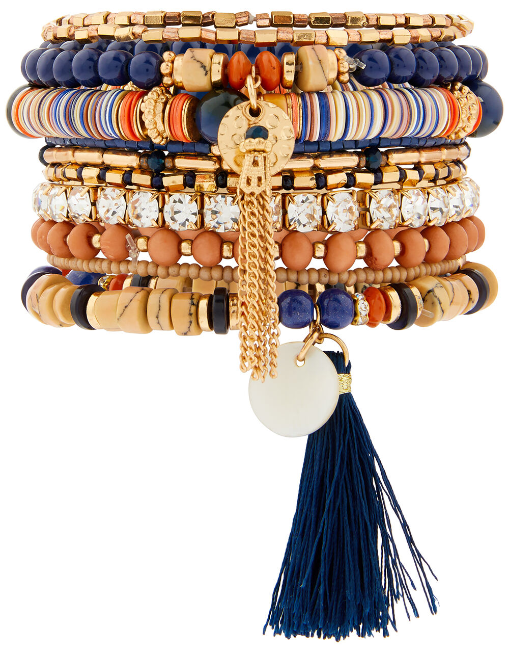Luxe Simplicity Tassel and Bead Bracelet Multipack, , large