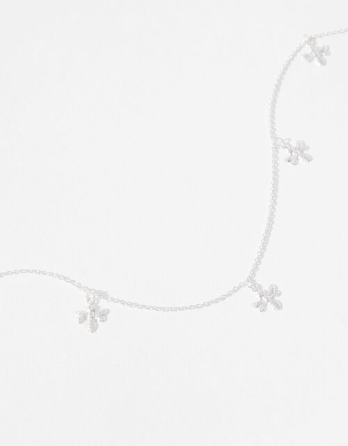 Sterling Silver Bee Collar Necklace, , large