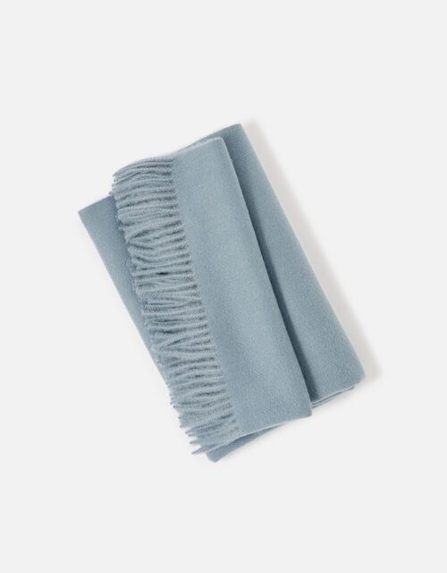 Holly Supersoft Blanket Scarf, Blue (BLUE), large