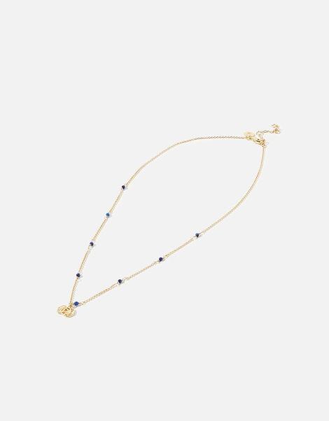 Beaded Third Eye Chakra Pendant Necklace, , large