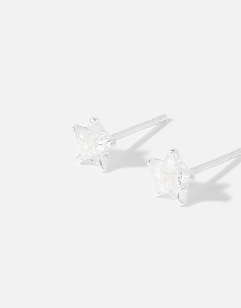 Sterling Silver Star Studs , , large