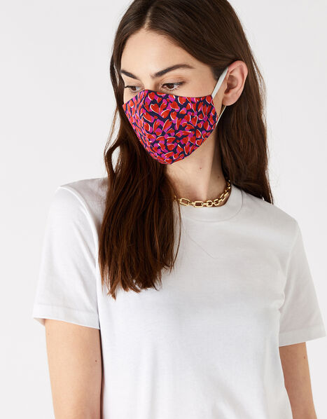 Love Heart Face Covering in Pure Cotton, , large