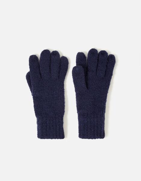 Glove and Hat Set  Blue, Blue (NAVY), large