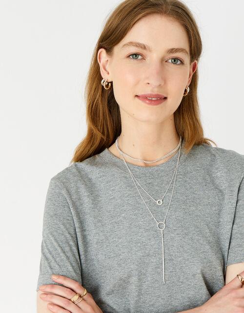Cupchain Layered Choker Necklace, , large