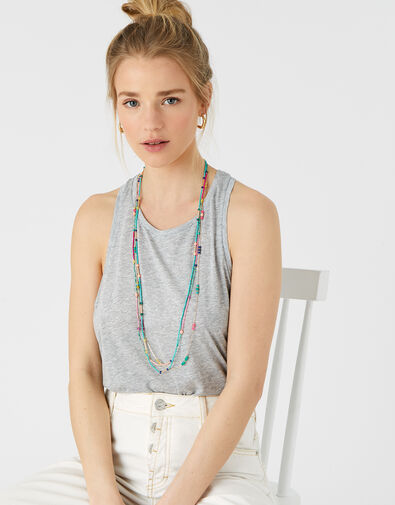 Island Vibes Jennie Beaded Rope Necklace, , large