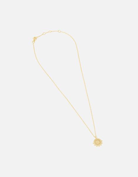 Gold Vermeil Coin Pendant Necklace, , large