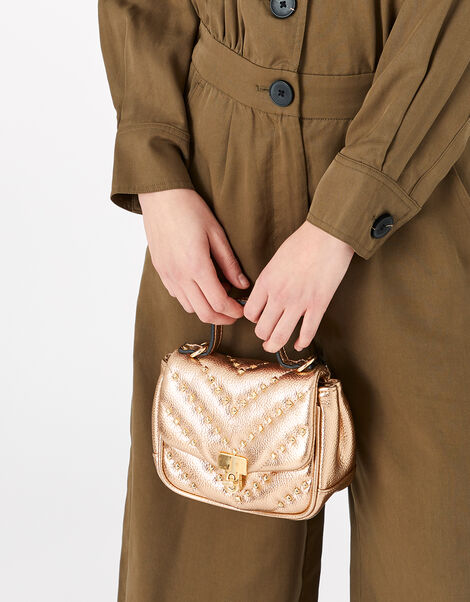Studded Cross-Body Bag, , large