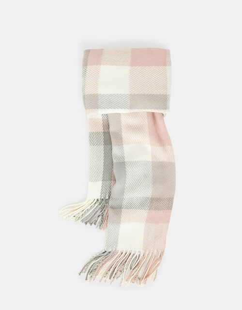 Poppy Pastel Check Blanket Scarf, , large