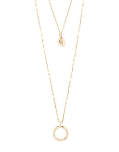 Layered Pendant Necklace, , large
