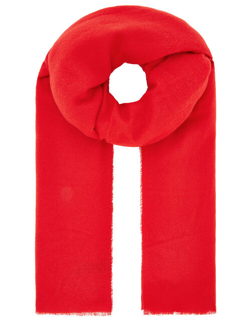 Wells Blanket Scarf Red, , large