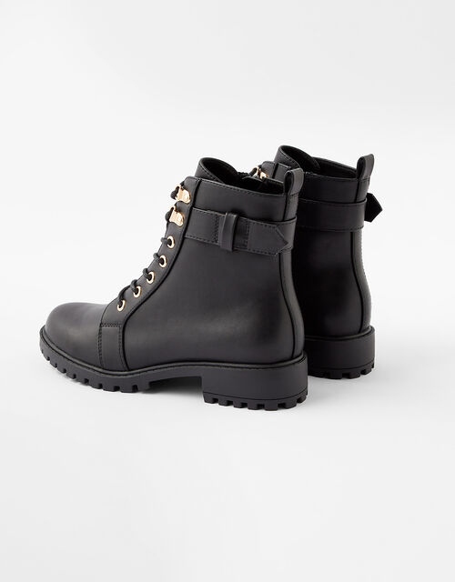 Lace-Up Boots, Black (BLACK), large